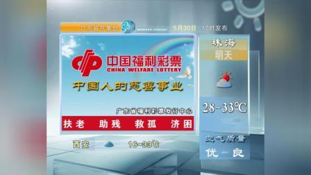 20180530广东卫视天气预报