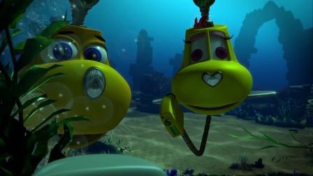 潜艇总动员2 小伙伴找到石板 文物被盗宝者窃取 CUT 4