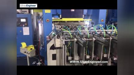 银工机械全自动智能便宜的铝箔容器航空餐盒一次性容器饭盒铝箔冲压机冲床生产线