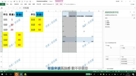 Excel表格中,用透视表计算两组数据的差异,怎么样?这个方法简单快捷明了