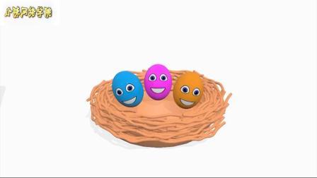 微波和惊喜鸡蛋玩具冰淇淋为孩子学习颜色与微波和鸡蛋