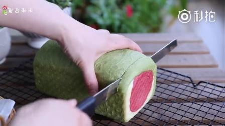 西瓜吐司: 夏天, 一定要有西瓜, 还有这个假装成西瓜的吐司
