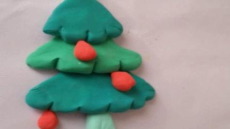 儿童手工彩泥制作小手工圣诞树的做法如何用彩泥做一棵柏树