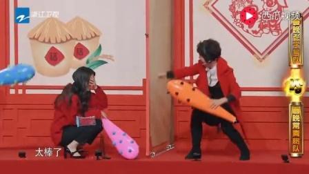 潘长江和欧阳娜娜玩传声筒游戏, 沈腾直接被整懵了, 爆笑
