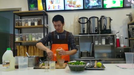 广州奶茶培训机构-誉世晨培训学校教学畅销冷饮金桔柠檬