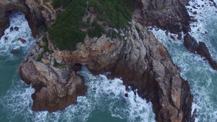 无人机航拍深圳杨梅坑日出完整 鹿嘴山庄
