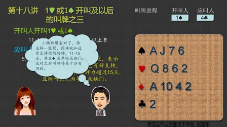西山小林精确叫牌 第十八讲 1H或1S开叫及以后的叫牌——应叫人做爆裂应叫