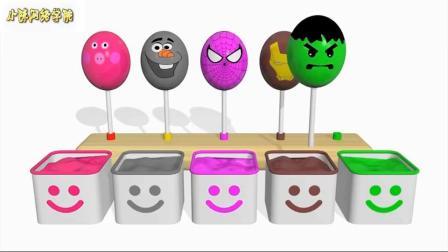 惊喜鸡蛋棒棒糖颜色为孩子们学习颜色与惊喜蛋微笑木制幼儿