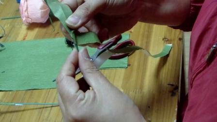 手工 慢生活 DIY 纸艺花制作 视频教程--纸艺玫瑰花2