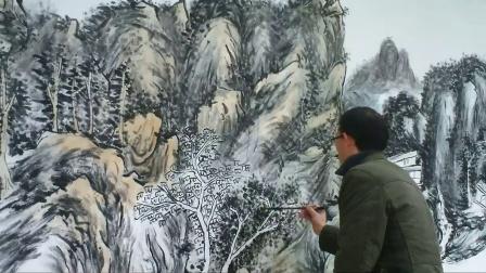 衡阳墙画衡阳墙绘之山水画题材