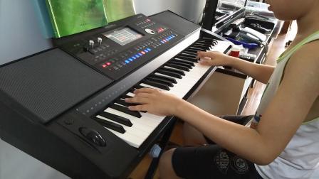 上上电子琴弹奏《回家》