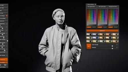 20组高分辨率真实女性全身扫描3D模型 人人素材