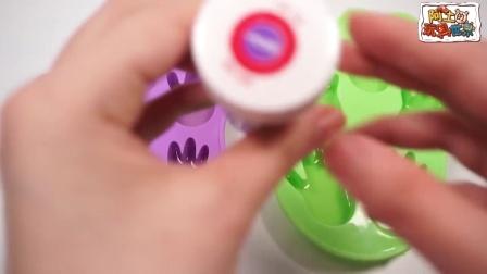 玩具时间:珍珠泥和鼻涕泥制作多彩小布丁