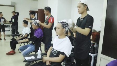 百美汇美发专业初级美发师等级证考证现场