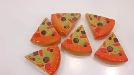 水晶泥玩具:做彩虹披萨吃吃