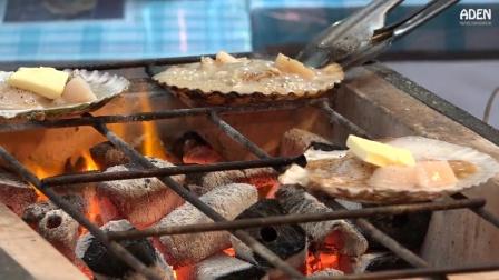 日本美食: 烤扇贝, 海鲜加黄油, 看得你流口水!