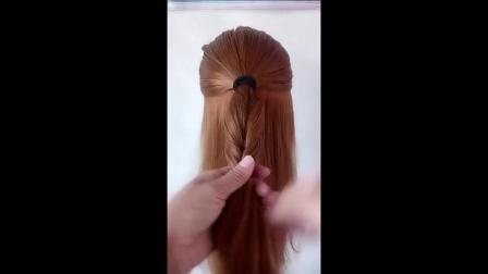 蘑菇头高贵莫西干碎发辫子教程扎头发可爱学生头辫子