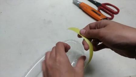 吃完点心 蛋糕盒再利用 DIY简易花吊篮 花盆 花器
