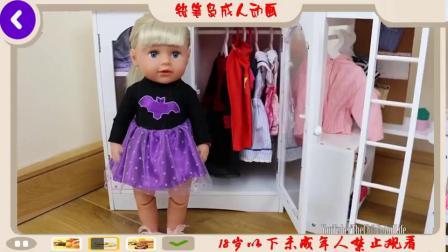 娃娃双层床床桌椅梳妆台解包婴儿出生的卧室课后例行公事
