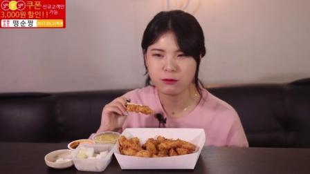 【韩国吃播-开档兄妹三】芝士年糕、蛋糕、冰淇淋、烤棉花糖炸鸡等美食