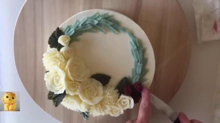 蛋糕裱花入门 水果蛋糕裱花视频 怎么做蛋糕裱花