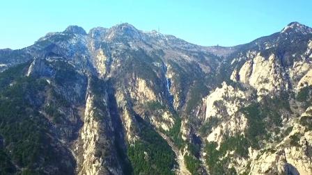 无人机航拍山东泰安 泰山风景 天下第一山