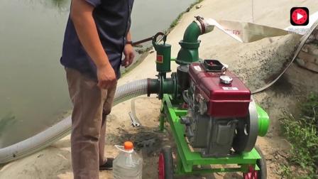 柴油机便携式抽水泵安装使用教程