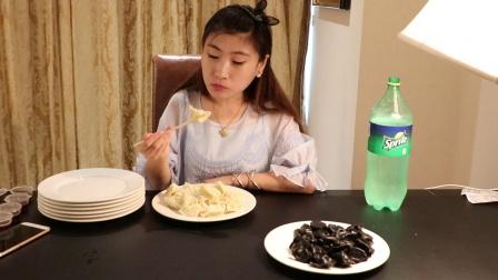 [大胃王桐桐]立秋就要这么贴秋膘!160个大馅饺子下肚超满足