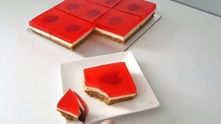 【碗有趣】草莓果冻乳酪蛋糕!