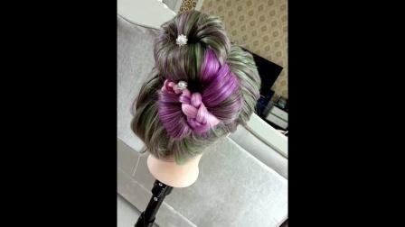 刘海儿童刘海短发编发发型蘑菇头辫子