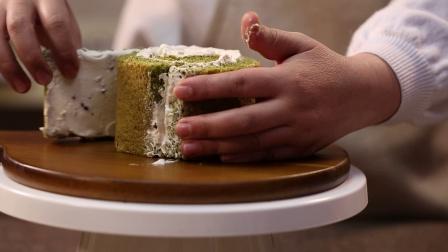 【食谱】抹茶红豆漩涡蛋糕的做法│展艺烘焙