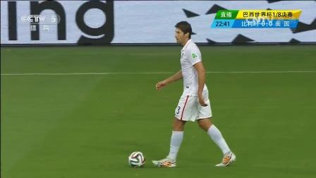 【进攻】比利时快速反击 德布吕纳射门险进球