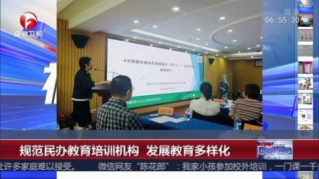 规范民办教育培训机构 发展教育多样化超级新闻场20180711 高清