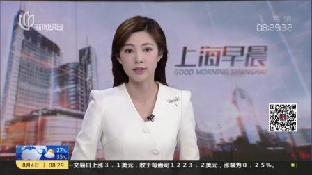 """台风""""云雀""""席卷杭州湾大桥  两辆集装箱卡车被掀翻 上海早晨 180804"""