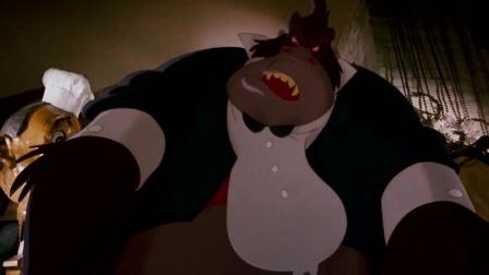 《谁陷害了兔子罗杰》偷窥罗杰太太约会 侦探被猩猩扔进垃圾堆