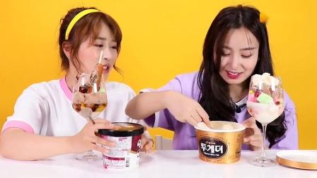 《小伶玩具》幸运转盘随机冰淇淋圣代DIY! 谁会中招怪味冰淇淋?