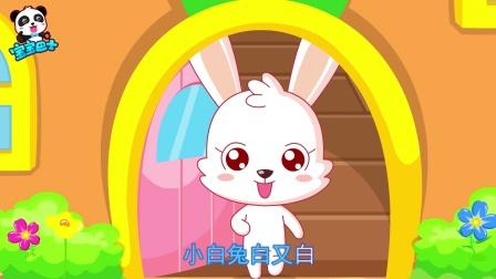 爱吃青菜萝卜的小白兔,竖起耳朵聪明伶俐惹人爱
