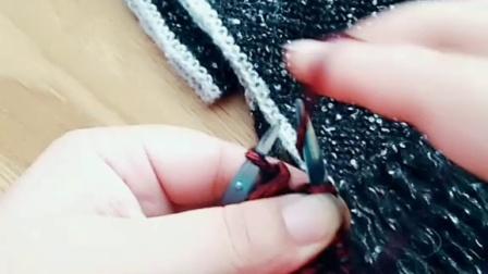 温暖你心 织围巾最后一针反针太松了怎么办?上针织错补救方法男士围巾教织太