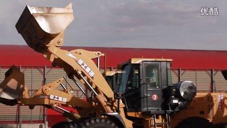徐工液化天然气装载机LW500K-LNG群车在银川施工