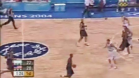 2004年雅典奧運會男籃半決賽 阿根廷VS美國
