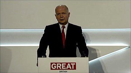 英国外交大臣威廉•黑格中国商务日讲话