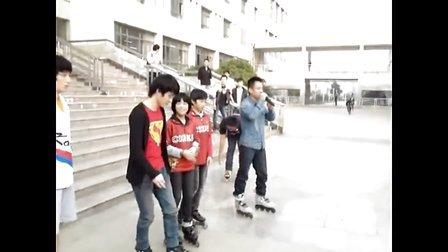 轮滑多位世界冠军在安徽建筑工程学院   童乐轮滑培训部 以及中国自由轮滑网支持