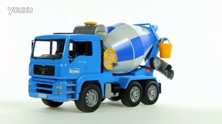 【福来英语儿歌】MAN Cement Mixer Truck (Bruder 02744)