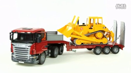 【福来英语儿歌】Scania R Series Low loader Truck