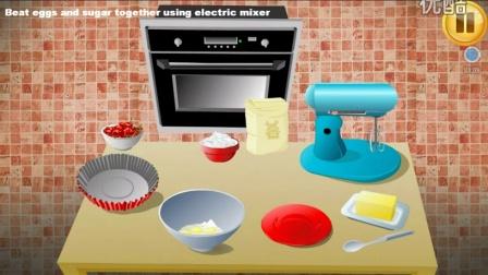 芭比公主教你做蛋糕的全部过程 DIY冰淇淋蛋糕全过程 樱桃蛋糕制作过程 做蛋糕流程介绍视频 宝宝学做蛋糕视频 幼儿园宝宝看动画学做蛋糕教程