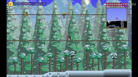 【菜鸡小分队★泰拉瑞亚】魔法向开荒 Terraria EP.10 雪人军团与圣诞老人