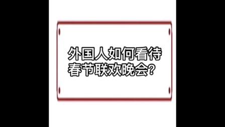 外国人怎么看到中国春节联欢晚会