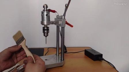 迷你小台钻微型高精度diy电钻简易车床切割机自制打孔机文玩佛珠