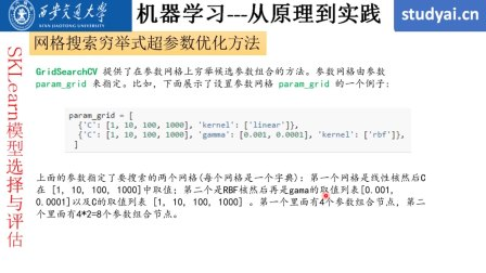 Python 机器学习 第十四课 SKLearn模型选择之超参数优化方法