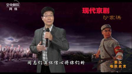 【网络空中剧院】票友唱段 《沙家浜》盼望着胜利归来的侦查员  朱仁爱演唱